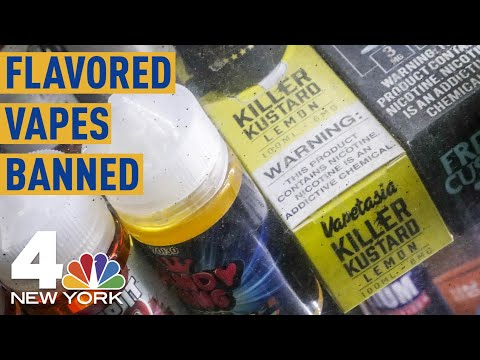 New York to Ban on Sale of Flavored E-Cigarettes, Vaping Products   NBC New York