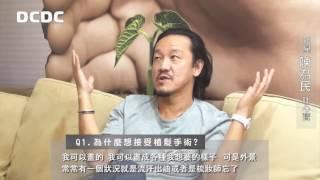 DCDC植髮案例─藝人陳為民植鬍、植眉、植鬢角!