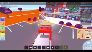 roblox firefighter responding to the cafe of fire alarm the nighborhood of robloxia