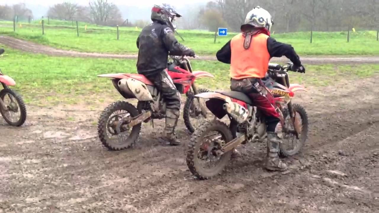 honda cr 85 vs honda crf 150 - youtube