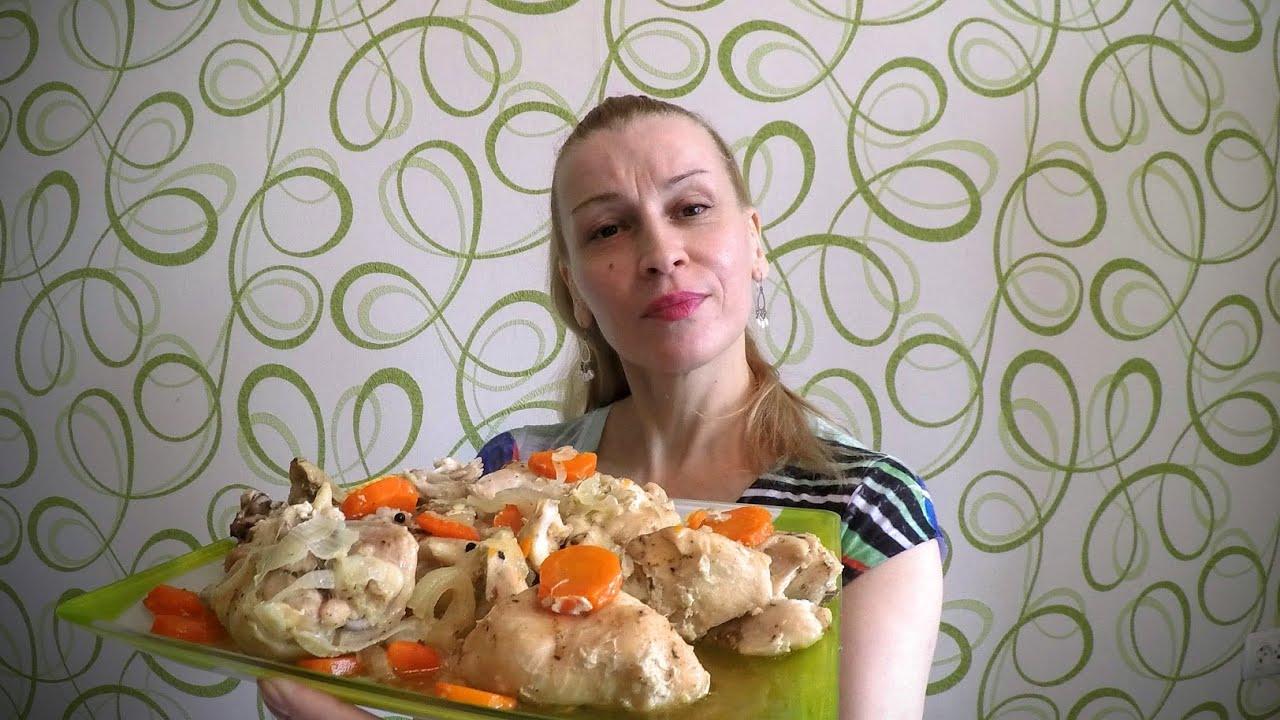 вкусно приготовить курицу в духовке с картошкой