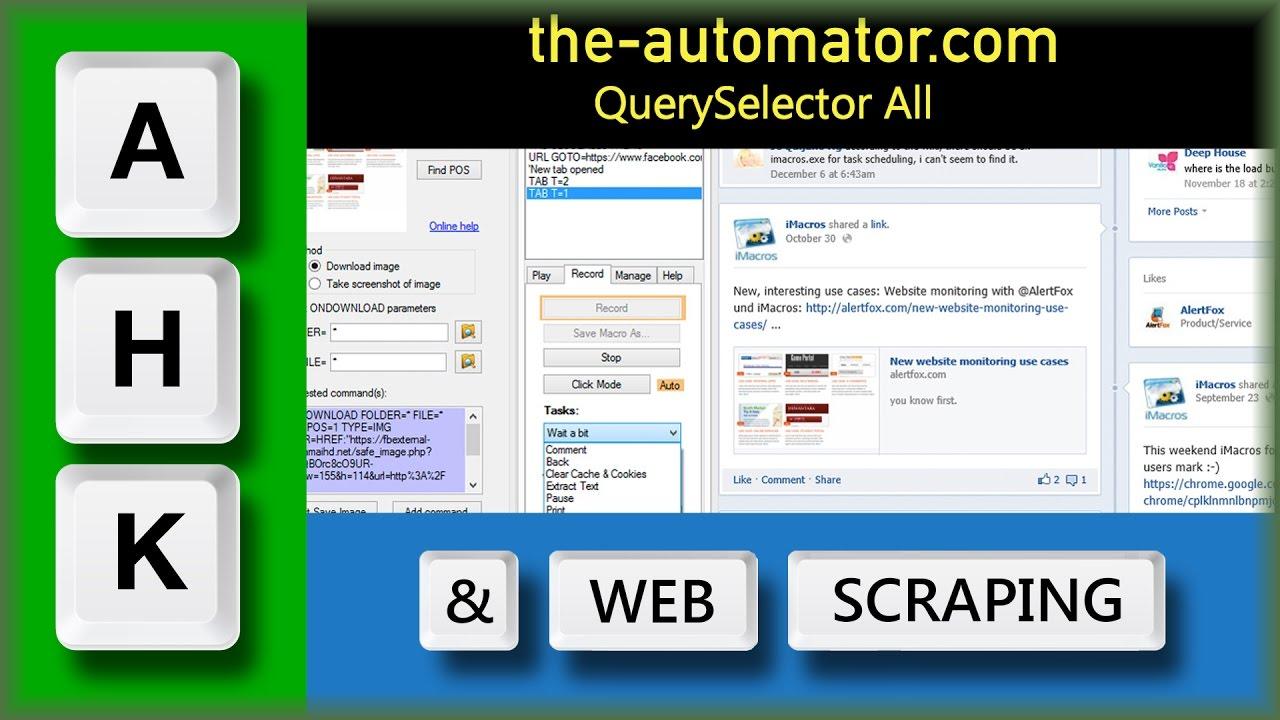 web scraping with autohotkey – Automating my world
