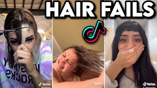 People cutting ✂/dying their hair at home (fails and wins) | tiktok compilation😱 💇‍♀️