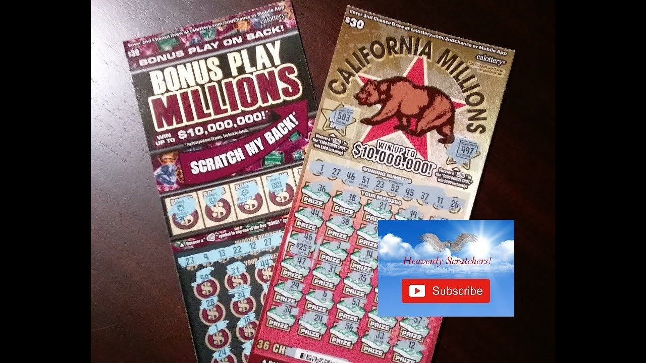 WINNER! New California Millions & Bonus Play Millions Scratchers!