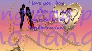 i love you boy lyrics by toni gonzaga