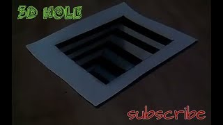 How to draw 3d Hole - easy Anamorthic illusion - trick  art on the paper by PV art