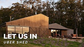 Uber Shed 2 | Luxury Garage & Home Tour! Airstream Bus & Outdoor Bath! 🚌🛁🌳 Collector Heaven! LUI E28