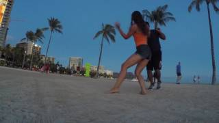 Kyle and Monika Bachata On Waikiki Beach