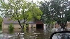 Tropical storm Harvey in brookside village tx