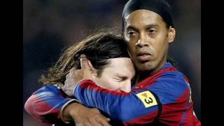 Ronaldinho and Messi friends forever(Рональдиньо и Месси )