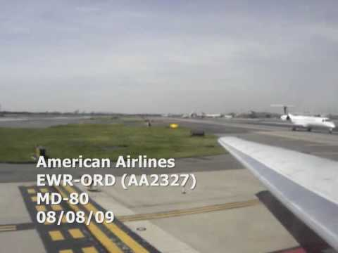 American Airlines Md 80 Taking Off At Newark Ewr Youtube