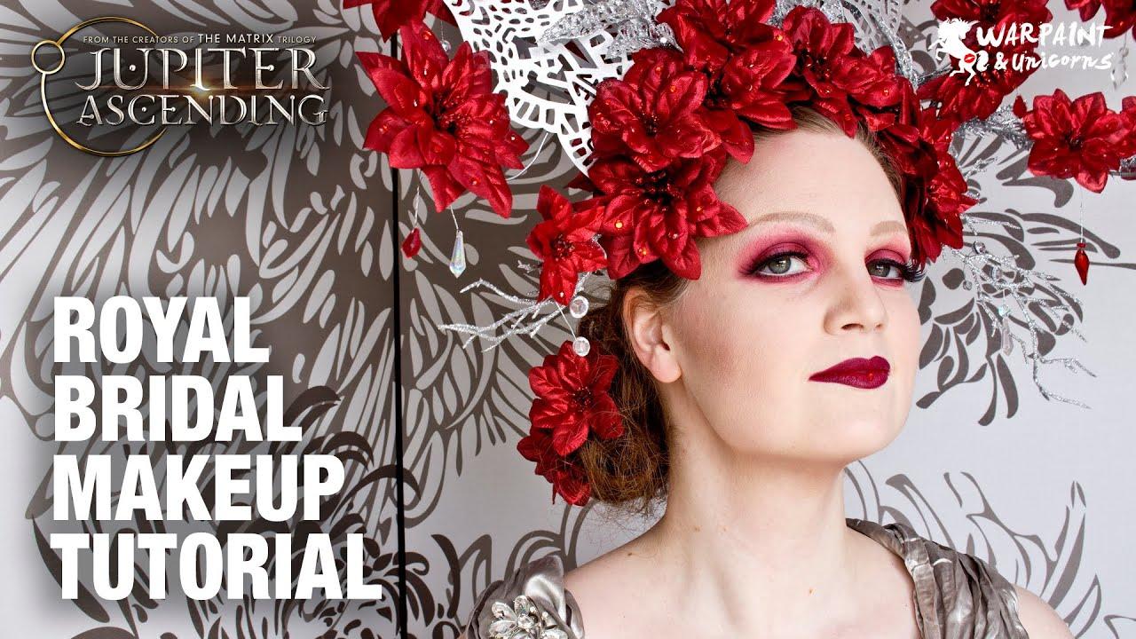 Bridal Makeup Tutorial 2018 : Jupiter Ascending Mila Kunis ~ Royal Bridal Makeup ...