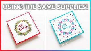 Traditional Vs Nontraditional DIY Christmas Cards Using The Same Supplies