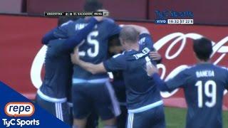 Los goles del triunfo de Argentina sobre El Salvador en el amistoso en Washington