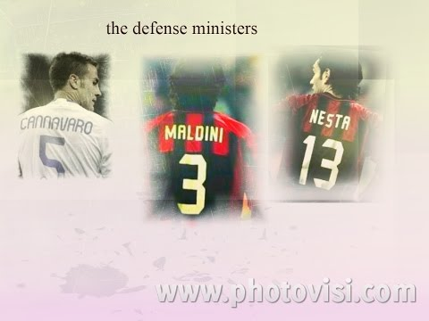 Paolo Maldini.  Alessandro Nesta..fabio Cannavaro,.Legends Italy,,The defense ministers