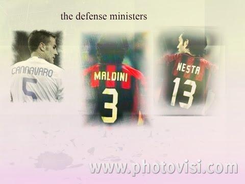 Paolo Maldini.  Alessandro Nesta..fabio Cannavaro,.Legends Italy,,The defense ministers