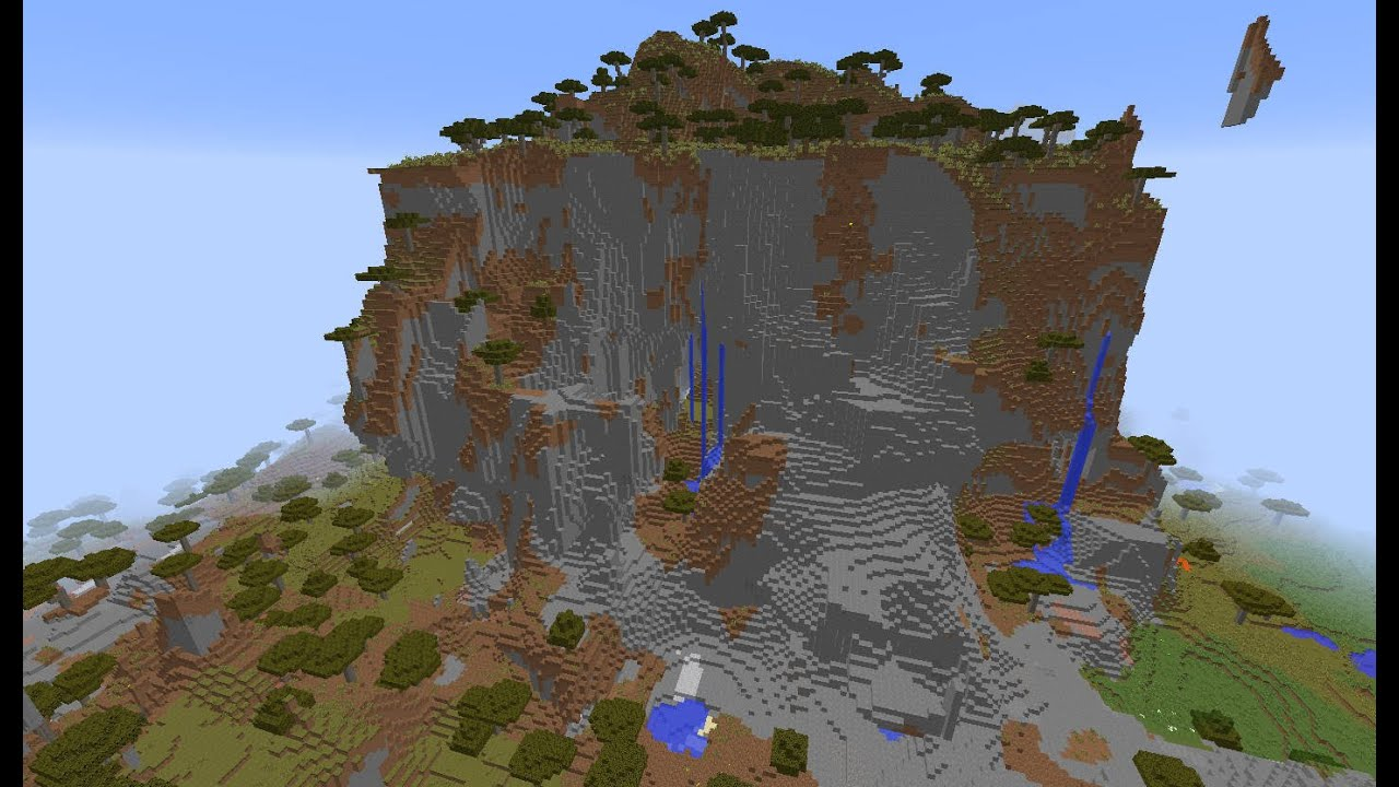Cool, Huge Mountain formation, cave system Minecraft seed 11.11.11 [20115]