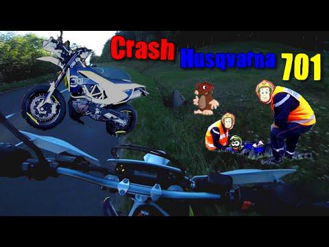 crash moto husqvarna 701 zai rider svrider hd fr youtube. Black Bedroom Furniture Sets. Home Design Ideas