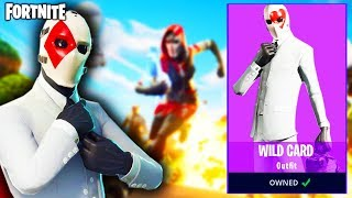 HOW to CUSTOMIZE *NEW* WILD CARD OUTFIT in FORTNITE... (Fortnite Battle Royale - High Stakes Event)