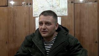 """Интервью с ополченцем. Позывной """"Крест"""". Ополченцы, Новороссия."""