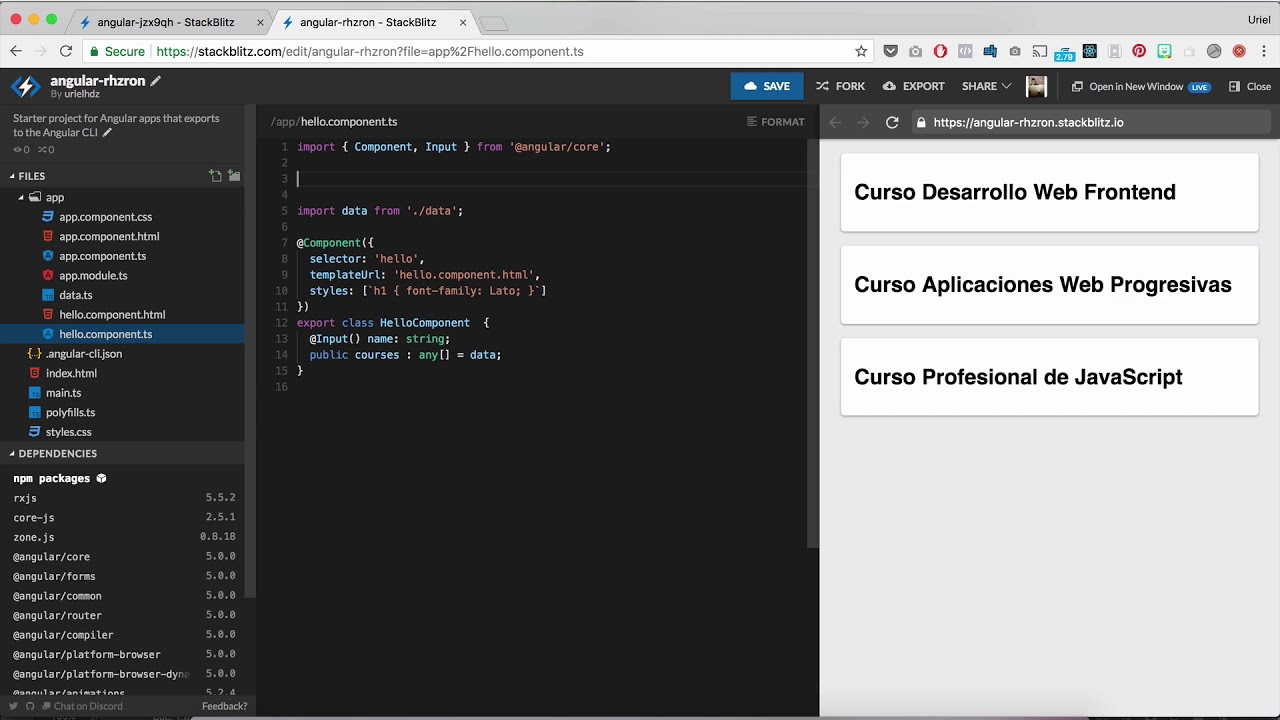 How To Add Angular Material In Stackblitz