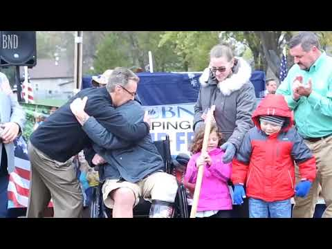 Injured Marine surprised with mortgage free home