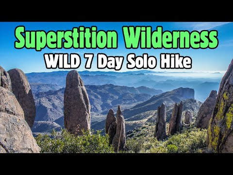Superstition Wilderness, AZ - 7 Day Solo Hike, 92 Miles - January 2014