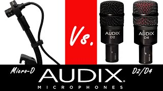 Audix D2/D4 vs. Audix Micro D Drum Mics