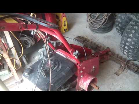 Troy Bilt Sickle Bar Mower, fixing wheel drive, will not disengage fully,