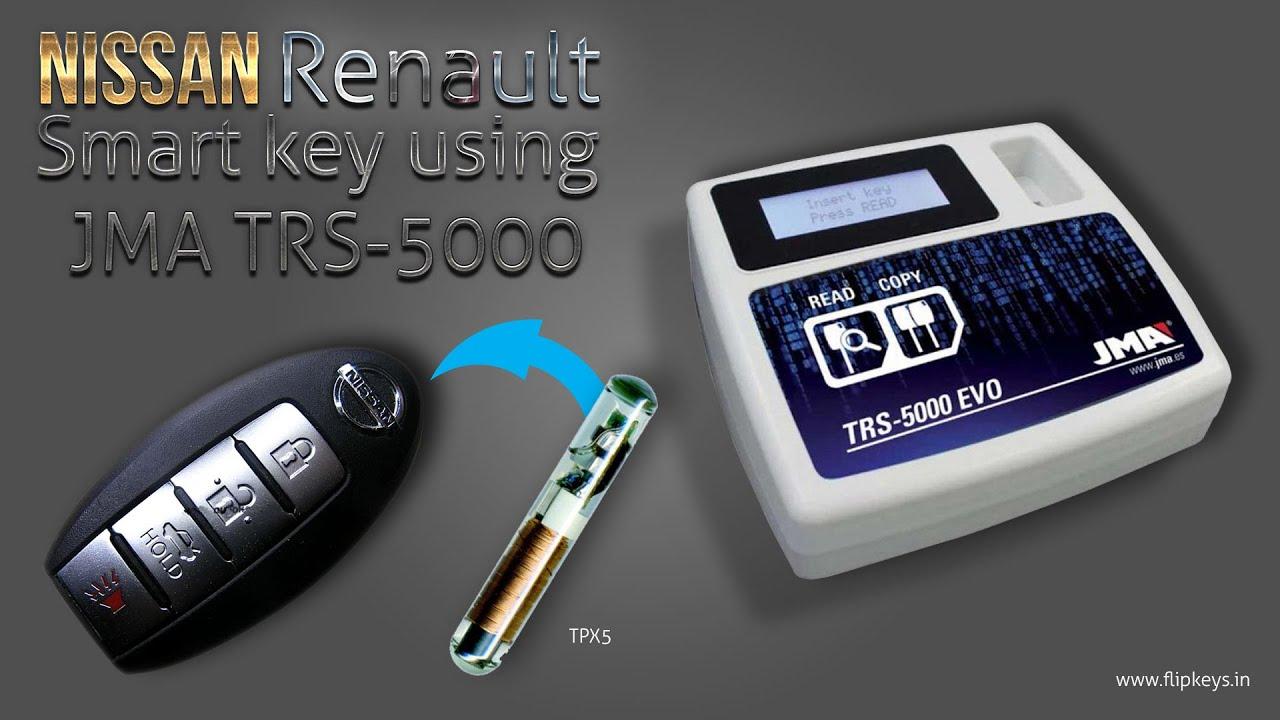 Nissan Renault Smart Key Clonning using JMA TRS5000