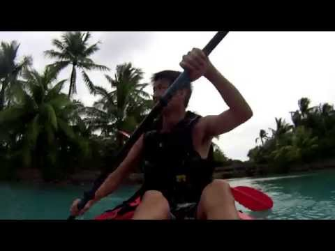 Kayaking in Bora Bora