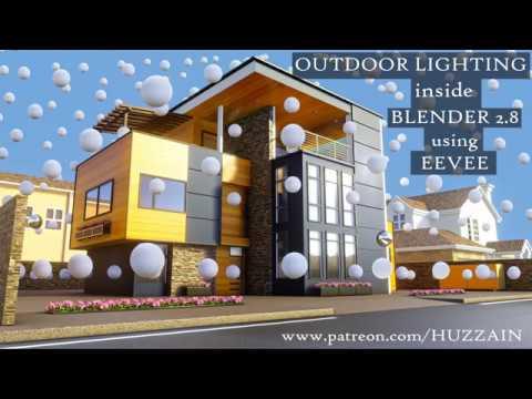 How to do Outdoor Lighting inside Blender 2 8 using EEVEE