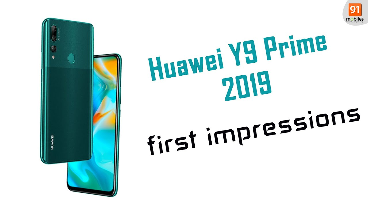 Huawei Y9 Prime 2019: First Look | Hands on | Price Rs 15,990 |  [Hindi-हिन्दी]