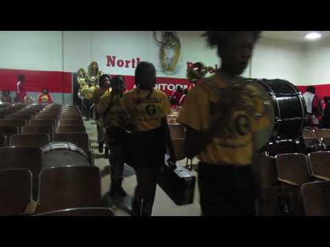 Greenville MS High School Marching Band | Marching Into Auditorium | North Panola High School | 2019