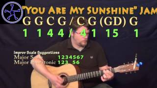 You Are My sunshine Jam in G Major - Acoustic Guitar Instrumental