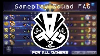 play rank with team fag squad - mobile legends