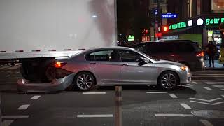 A Traffic Accident in New York filmed on October 30 2017