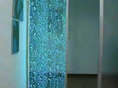 Parete Dacqua In Casa : Parete muro d acqua fontana a bolle d aria youtube