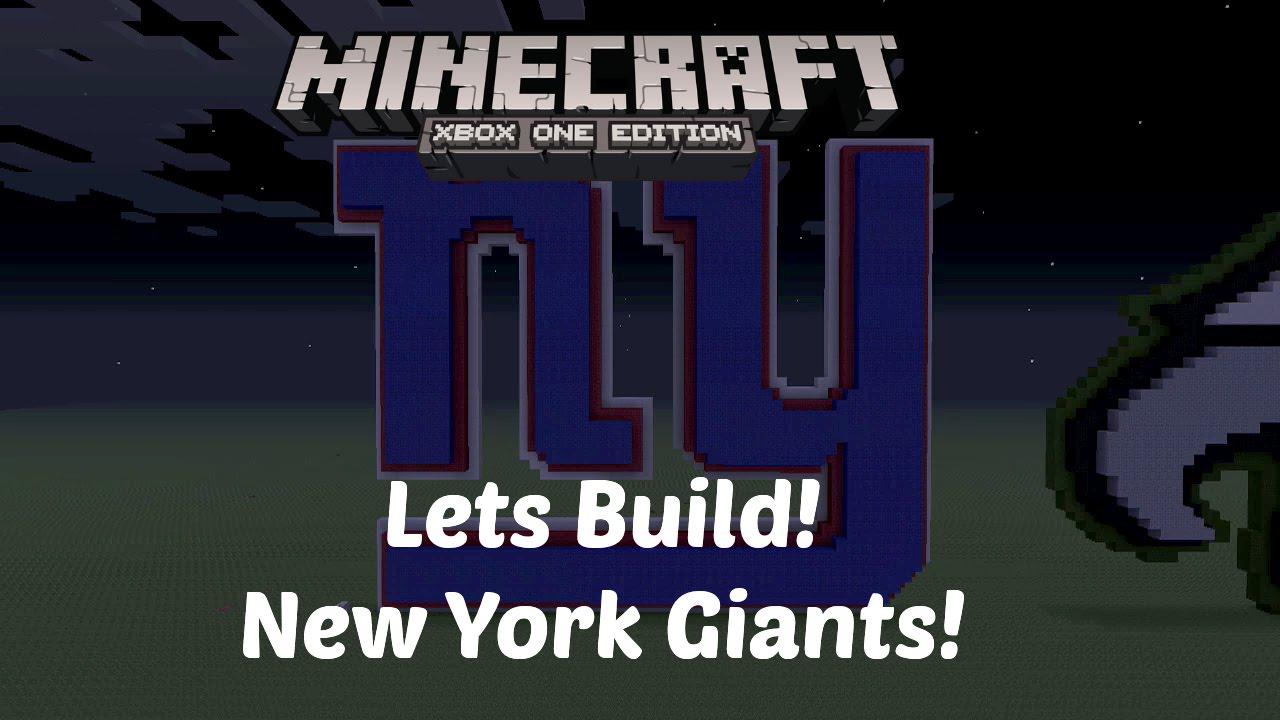 minecraft let s build nfl logos new york giants xbox one hd