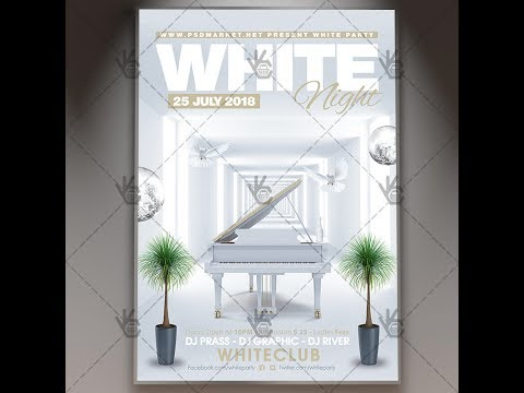 White Party Night - Premium Flyer PSD Template