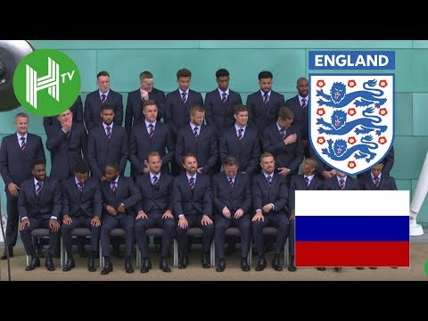 England squad depart for Russia ahead of World Cup