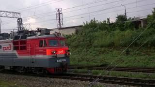 Из окна поезда от станции Саратов