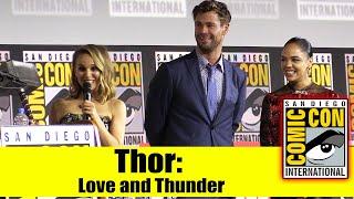 Download THOR: LOVE AND THUNDER | 2019 Comic Con Panel (Chris Hemsworth, Tessa Thompson & Natalie Portman) Mp3 and Videos
