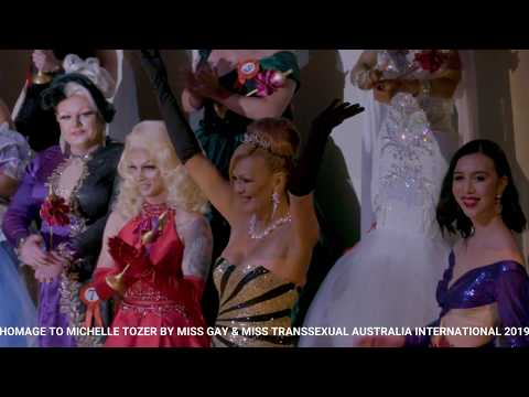 HOMAGE TO MICHELLE TOZER With 2019 Miss Gay & Trans Candidates