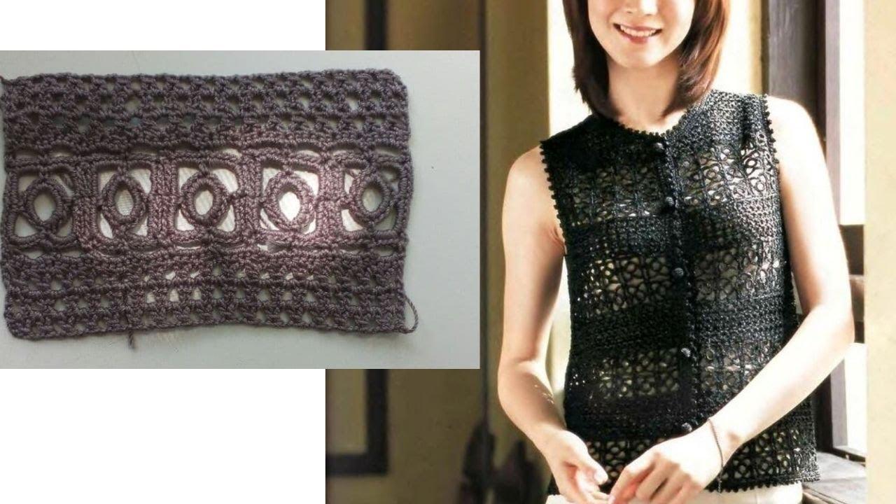 Удивительное решение для летнего жакета или платья Вяжем крючком