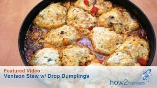Venison Stew With Drop Dumplings