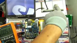 técnica para reparar una tablet muerta, calienta procesador, no enciende ejemplo kalley K-BOOK4B