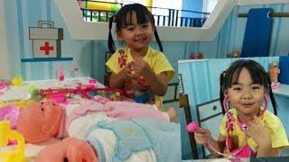 ฉีดยาเด็ก| ของเล่นคุณหมอ |Doctor for kids - สวนสนุกBlue Monkey by The Kids TV