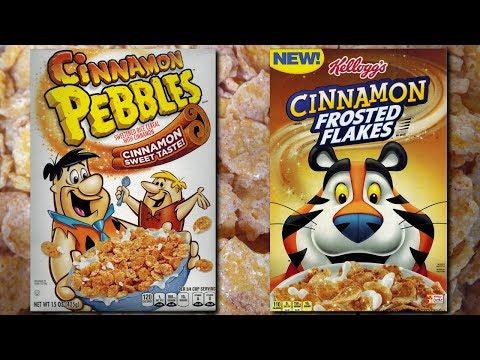 Cinnamon Pebbles (2017) & Cinnamon Frosted Flakes (2017)
