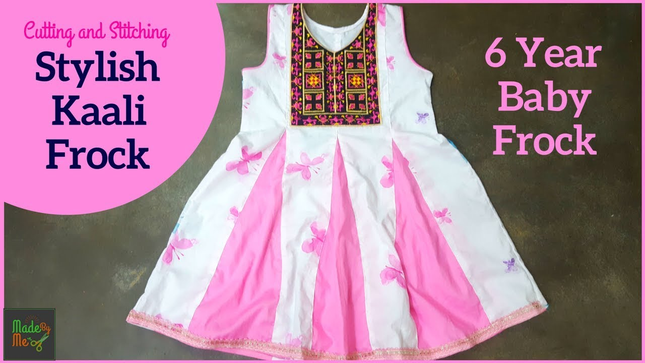 829e8e16c1 Kali Frock | 6 Years BABY FROCK Cutting and Stitching in Hindi/Urdu